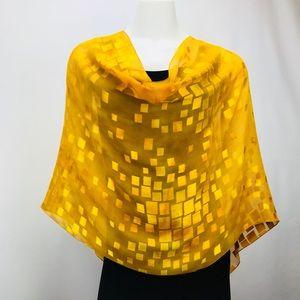 NWT Naps & Nites Hand Dyed Silk Poncho